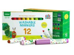 Mideer Eric Carle Washable Markers - 12 Colors