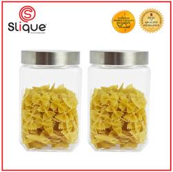 SLIQUE 2pc Set Glass Jar 1.5L