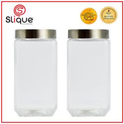 SLIQUE 2pc Set Glass Jar 2L