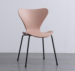 AH1 Blush Pink Resin Base Stackable Chair