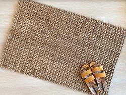 Handwoven Mabuhay Abaca Door Mat (Dark Weave)