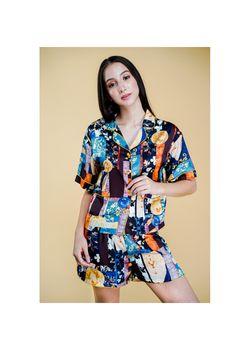 Intissimo Scarlet Silk Short Pyjama