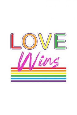 """LOVE WINS LINES POSTER 19x27"""""""