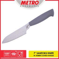 """METRO MKK 5705  7"""" SANTOKU RUBBER COATED HANDLE KNIFE"""