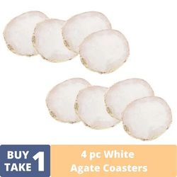 BUY1TAKE1: Homescapes Natural White Agate Coaster