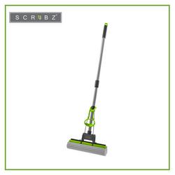 SCRUBZ Heavy Duty Cleaning Essentials Easy Grip Premium PVA Sponge Mop 27cm x 5cm x 84cm