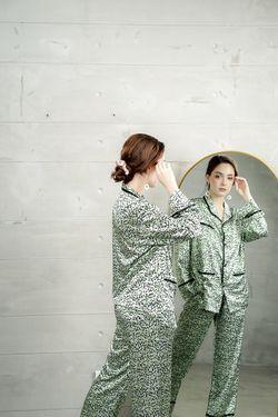 Mulberry Silk Printed Pajama Cristina