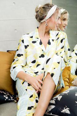 Mulberry Silk Printed Pajama Thea