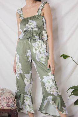 Intissimo Summer Floral Printed Silk Terno Loungewear Sleepwear Set -C