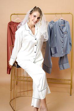 Intissimo Sharlyn (White) Silk Pyjama