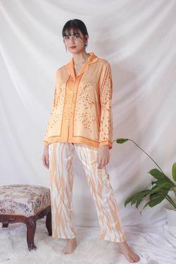 Intissimo Olie Terno Pajama Silk Sleepwear Long Pants -C