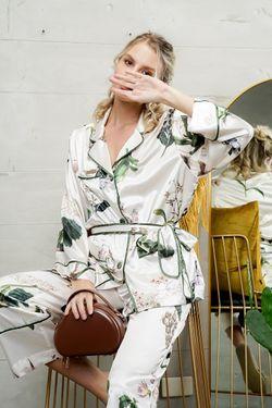 Mulberry Silk Printed Pajama Felicia