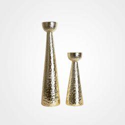 Gold Candle Holder Decor Short LA-1963