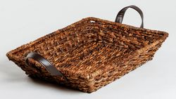 Hand Woven Rectangular Tapered Tray in Triple Weave Design