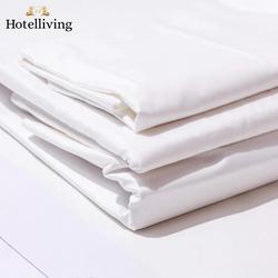 Hotelliving Organic Cotton Sateen Weave King Bed Sheet (3 Piece Set) White
