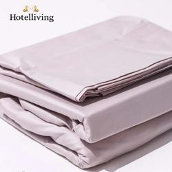 Hotelliving Organic Cotton Sateen Weave King Bed Sheet (3 Piece Set) Light Gray