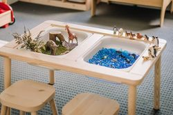 Kids Sensory Table with Lids and Chair
