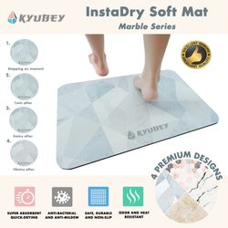 Kyubey InstaDry Soft Mat - Marble Series