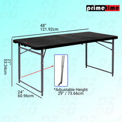 Primetime 4 Ft. Rectangular Fold-in-Half Plastic Table
