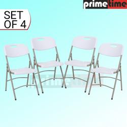 Primetime Premium Folding Chairs Set of 4