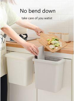 Kitchen Cabinet Hanging Trash bin with lid
