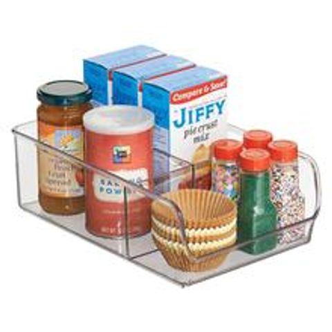 Clear Kitchen Fridge Storage with Divider - Medium