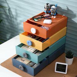 Stackable Drawer Type Desk Organizer