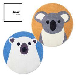 Koala Polar Bear plush non-slip round floor mat 80cm