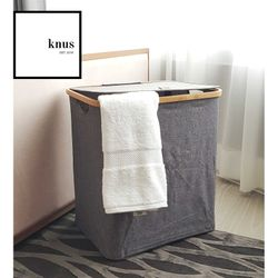 Laundry Hamper Gray Modern Collapsible
