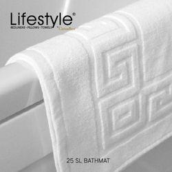 """Lifestyle by Canadian 25 SL Greek Boarder Bathmat 20x30"""""""