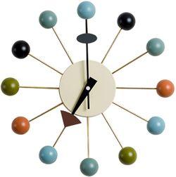Dusty Cloud Ball Analog Clock