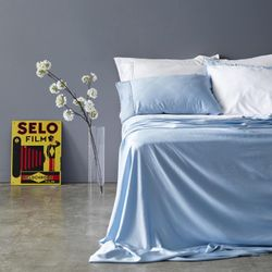 Bamboo Bed Sheets - Sky Queen