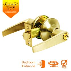Corona Entrance Keyed Lever Lock (Polished Brass)