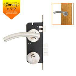 Corona Stainless Entrance Single Mortise Lock Set