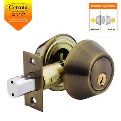 Corona Deadbolt Double Lock (Antique Brass)