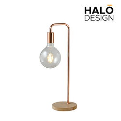 Ophra Table Lamp Wood base with bulb