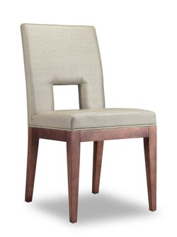 Hole Dining Chair beige Solid wood legs