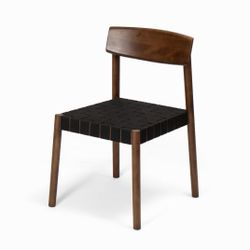 Belt Dining Chair Black Belt Solid Wood legs