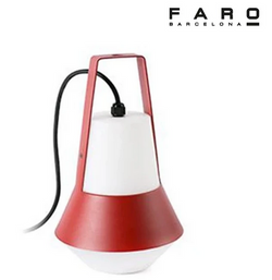 Faro Cat Portable Outdoor Lamp Red