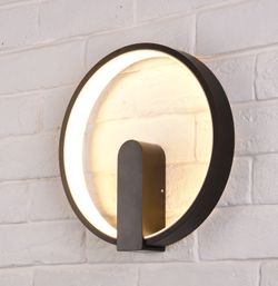 Circle Wall Lamp Black LWA0092BLK