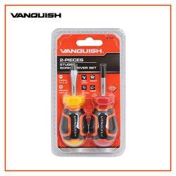 VANQUISH Stubby Slotted & Philips Screwdriver Set of 2 Premium