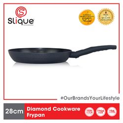 SLIQUE Premium Frypan 2 Layer Non-stick Coating, Induction base Diamond Cookware 28 cm Amazing Gift Idea For Any Occasion!