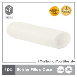 PRIMEO Premium Bolster Pillow Case Standard Size 100% Cotton 300 Thread Count Amazing Gift Idea For Any Occasion!