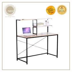 NEST DESIGN LAB 2 Tier Working Desk Shelves for Organizing 120x52x120cm Condo Living Modern Italian Design