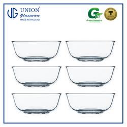 "UNION GLASS ThailandPremium Clear Glass Bowl 325ml - 4.5"" Set of 6"