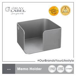 GRAY LABEL Premium Memo Holder High Impact Polystyrene Plastic 11.8 x 10.6 x 6.5 cm Amazing Stationery Supplies For Office