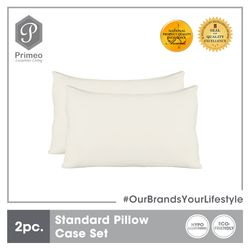 PRIMEO Premium 2 Pillow Case Set Standard Size 100% Cotton 300 Thread Count Amazing Gift Idea For Any Occasion!