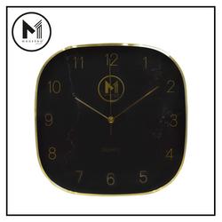 "MODERNO Premium Wall Clock 11"" Metallic Marble Finish Dial"