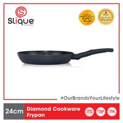 SLIQUE Premium Frypan 2 Layer Non-stick Coating, Induction base Diamond Cookware 24 cm Amazing Gift Idea For Any Occasion!