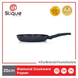 SLIQUE Premium Frypan 2 Layer Non-stick Coating, Induction base Diamond Cookware 20 cm Amazing Gift Idea For Any Occasion!
